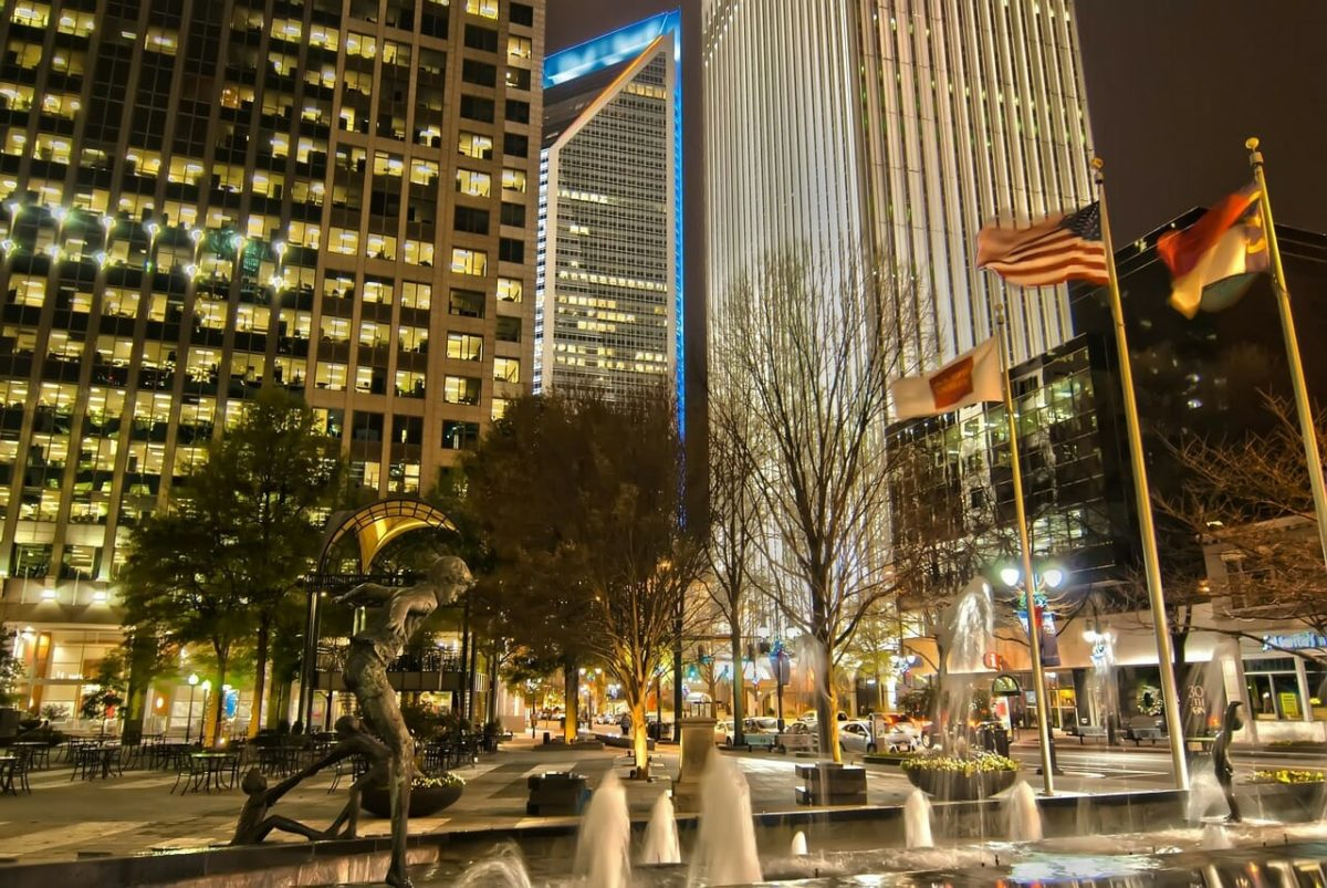Uptown Charlotte at Night Pixabay Public Domain