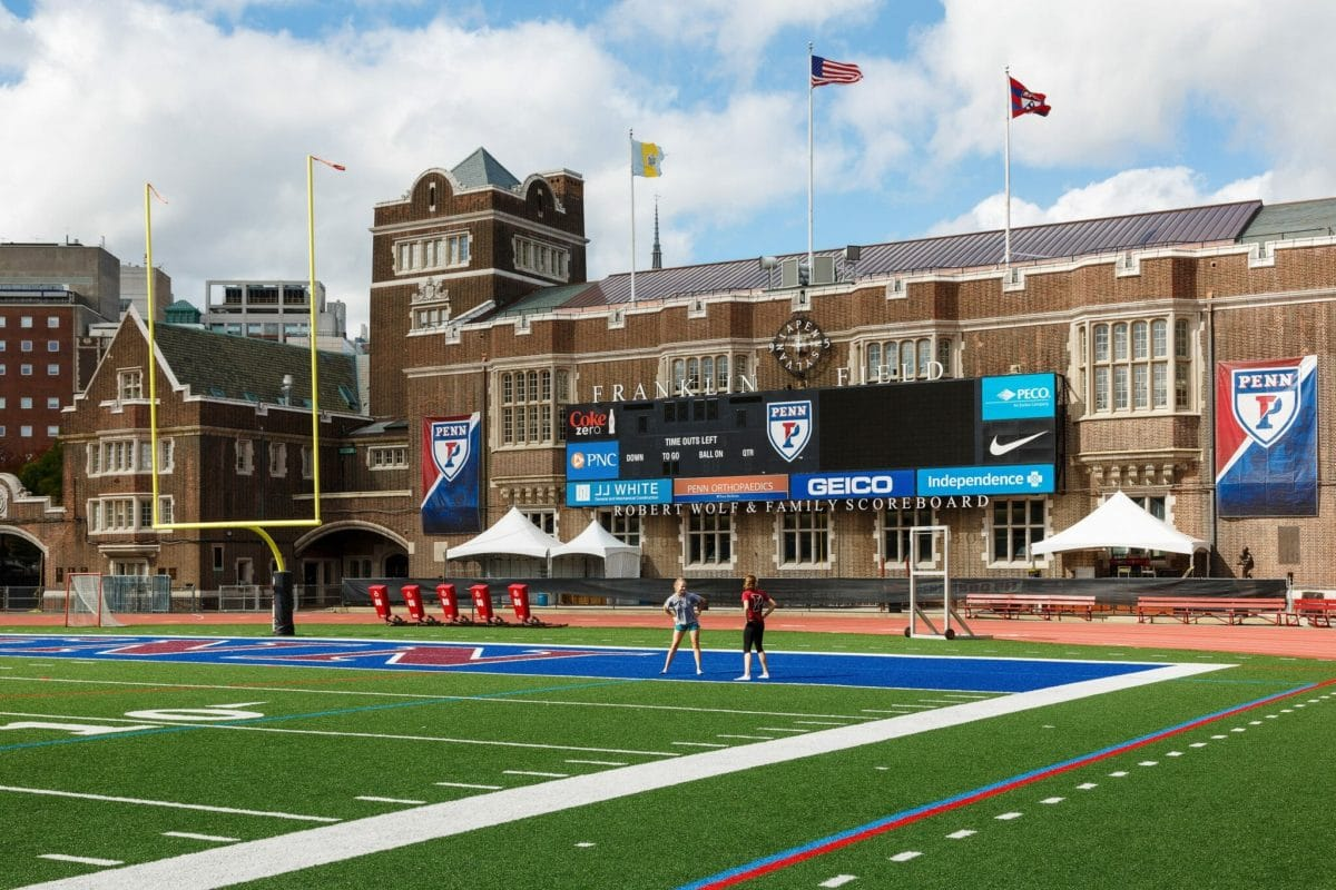 Franklin Field, located on the University of Pennsylvania's campus, is the home of the Penn Relays.  Photo Credit: Photo by Paul Loftland for PHLCVB