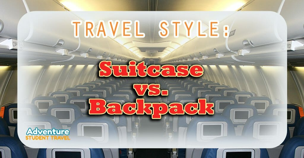 Suitcase vs. Backpack