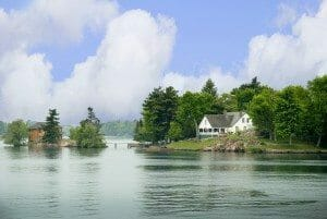 1000 islands in St Lawrence River Canada