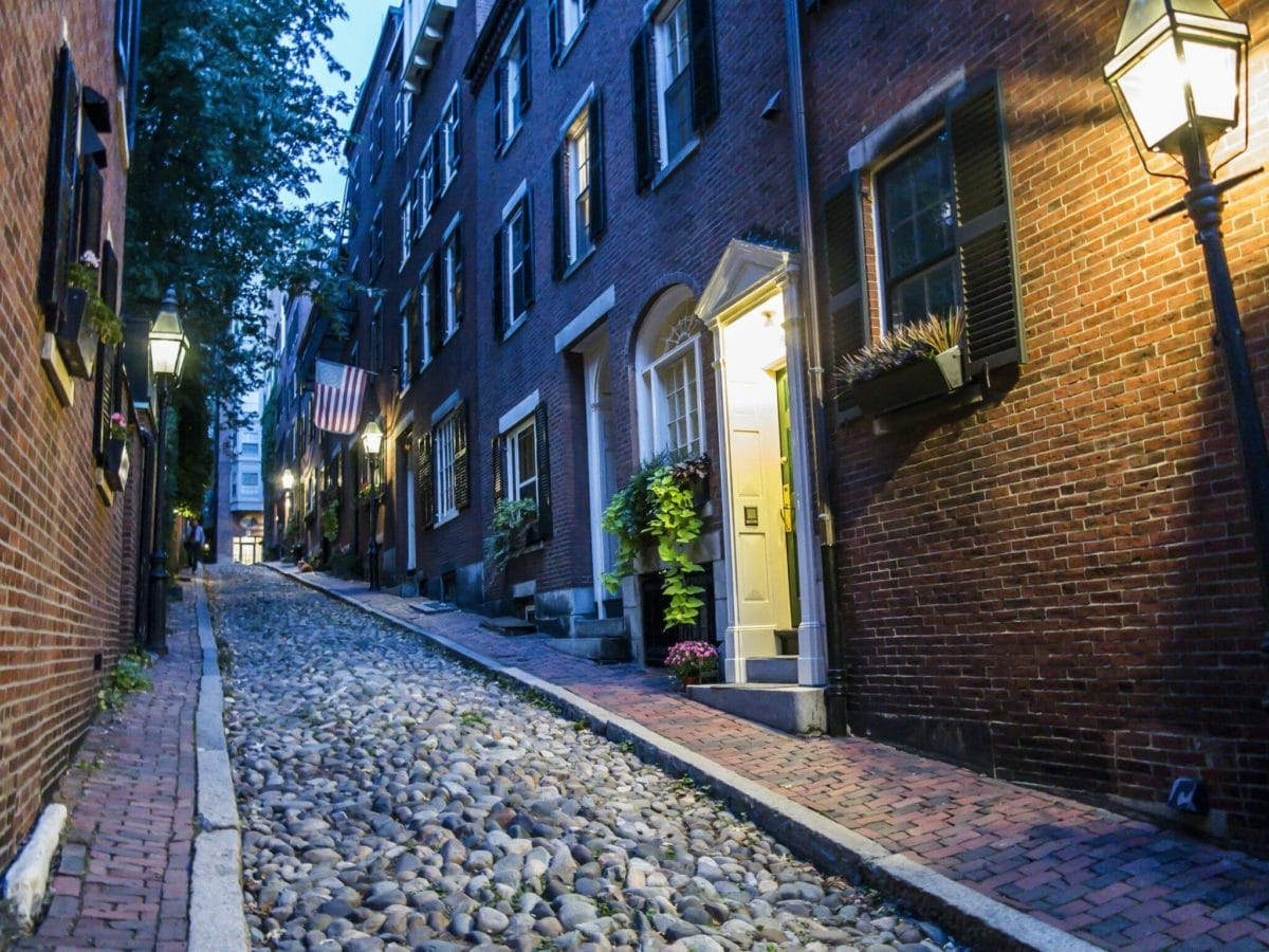 Boston Acorn Street at Night Dollarphotoclub