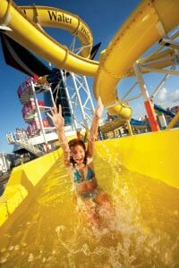 Girl on Waterslide