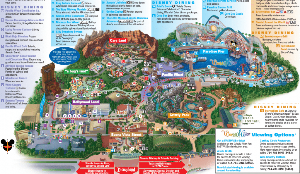 Map Of California Disney.8 Differences Between Disneyland And Disney S California Adventure