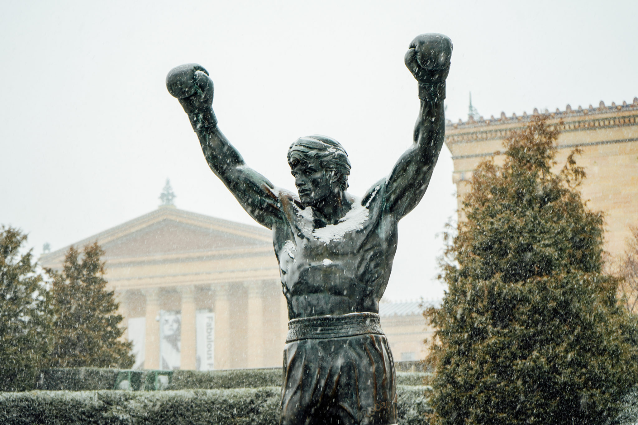 Rocky Statue in snow, February 2019 photo credit K Huff for PHLCVB (2)