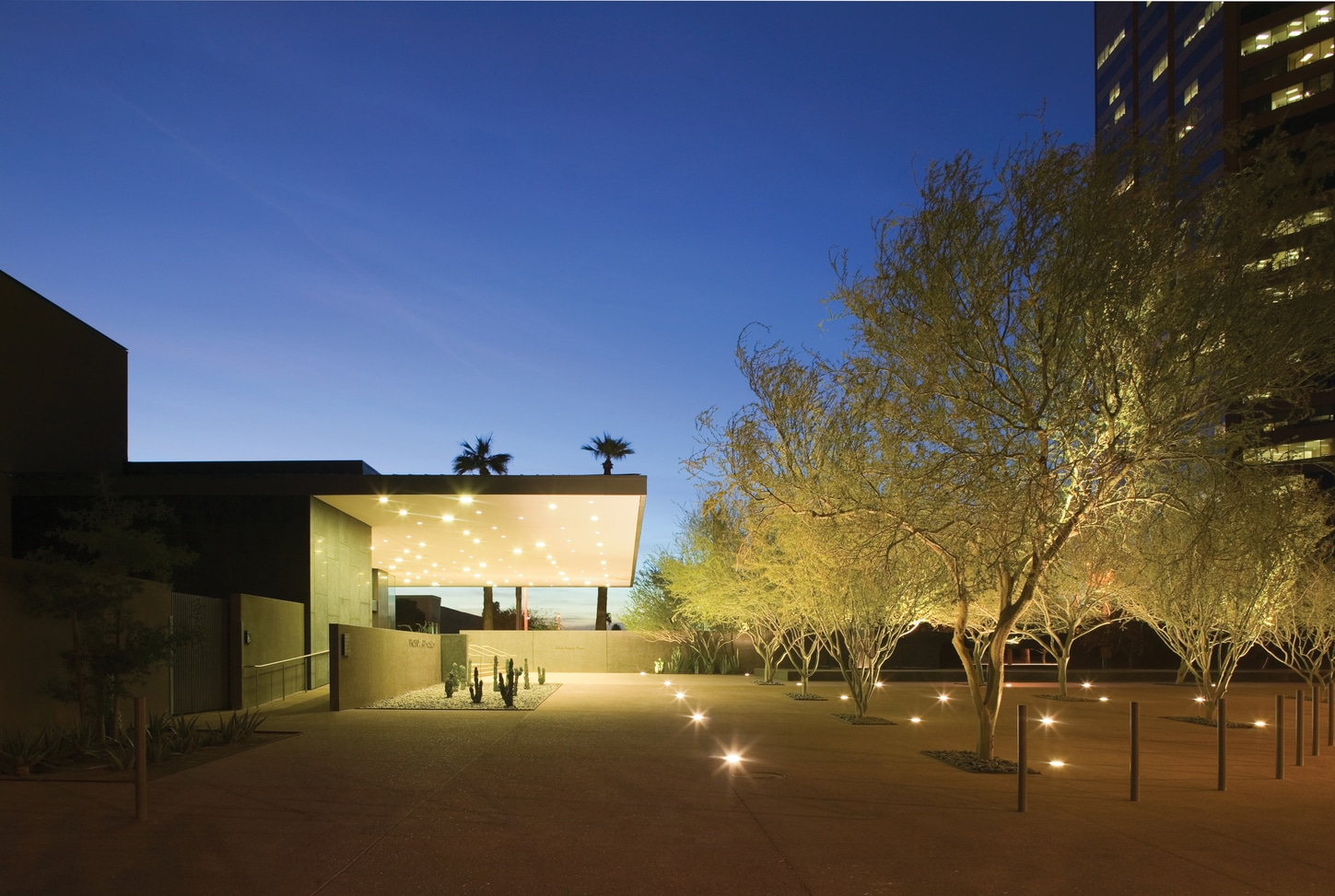 Phoenix Art Museum at night Credit Bill Timmerman