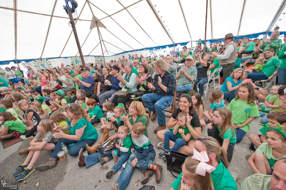 Families Enjoying Performances on St. Patricks Day at Pioneer Farms Credit Dale Rempert Photography Courtesy of Visit Austin